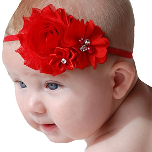 Miugle Baby Red Headbands Hair Bows Toddler Girls Hair Band (Red Girls Hair Band)