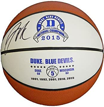 Image Unavailable. Image not available for. Color  Jahlil Okafor Signed  Autograph Duke Blue Devils 2015 National Champs White Logo Basketball 0978b48e6