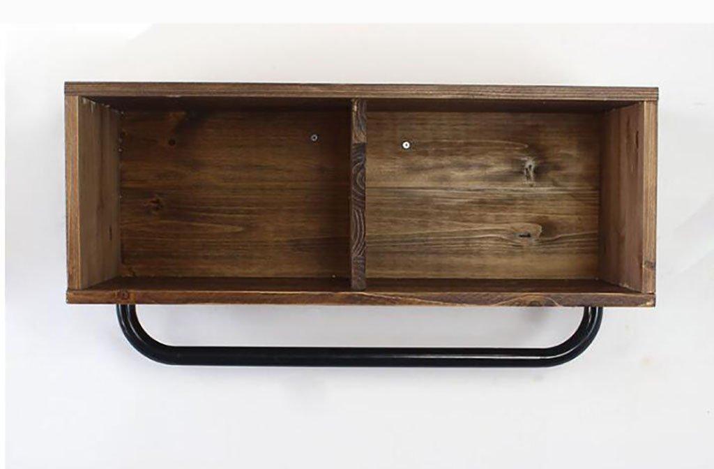 コートラック, コートラックの衣類店の服木製のディスプレイスタンドレトロ壁に取り付けられたサイドマウントされた吊り下げ式ラック棚棚 (Size : L65*W30*H40cm) B07SN14XNP  L65*W30*H40cm