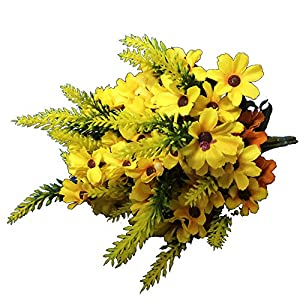 KAYAN 18 Heads Artificial Fake Mums Silk Autume Calliopsis Flowers Bouquet Home Kitchen Living Room Dining Table Centerpieces Arrangements Decorations Multicolour 93