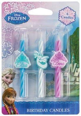 Disneys Frozen Icon Birthday Cake Candles - 6 pc