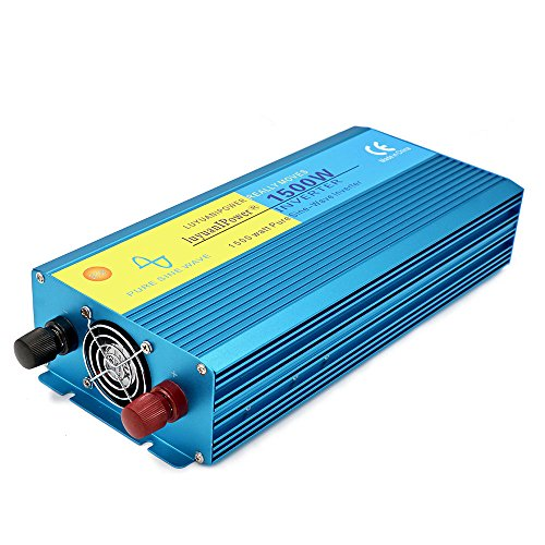Cantonape Car Boat RV 1500W/3000W(Peak) Pure Sine Wave Power Inverter DC 12V to 110V AC with LCD Display by Cantonape (Image #1)