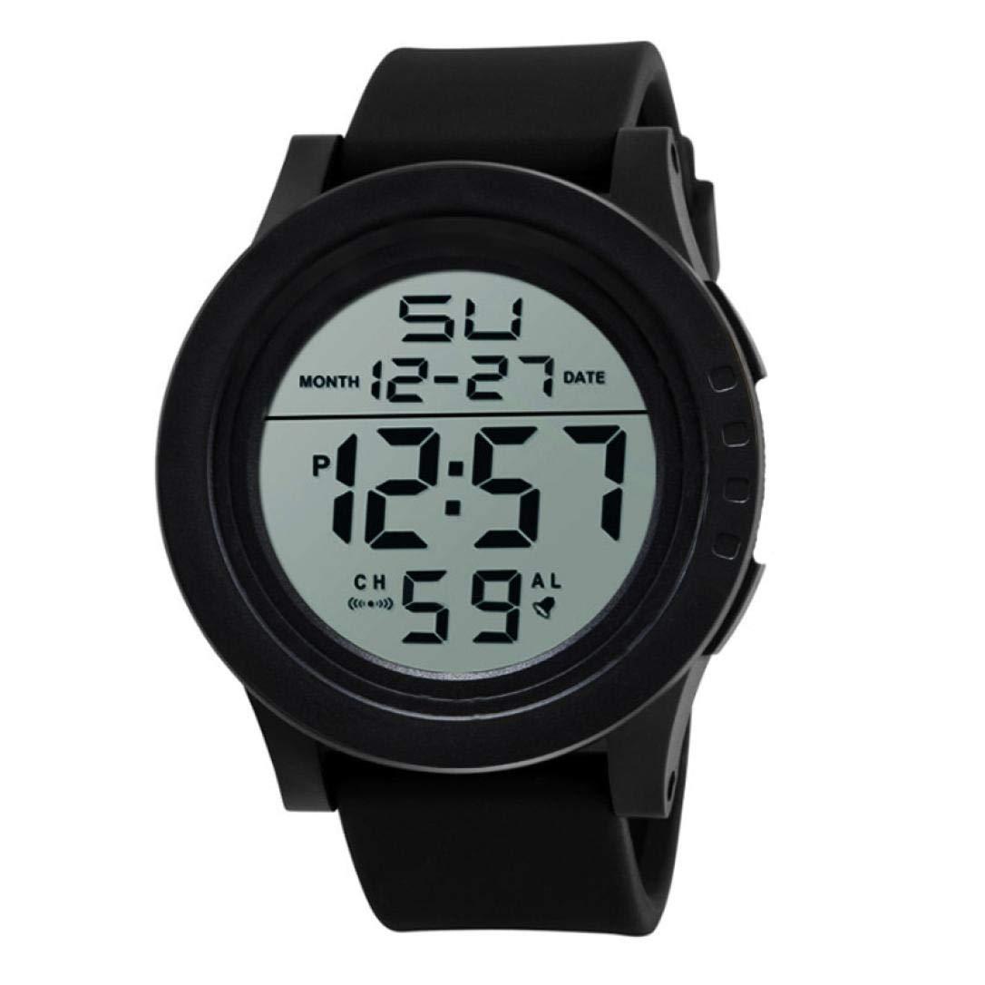LtrottedJ HONHX Reloj Electrónico 2018, LED Impermeable Digital Cuarzo Moda Reloj Militar Deporte Hombre, Negro: Amazon.es: Deportes y aire libre