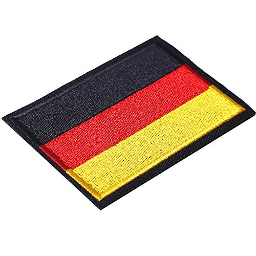 Germany Flag Woven Patch German Flags Patches Pride Clothes Moral Backside Tactical Patches Hook and Loop Attach for Military Uniform Tactical Bag Jacket Jeans Team Backpack Hat