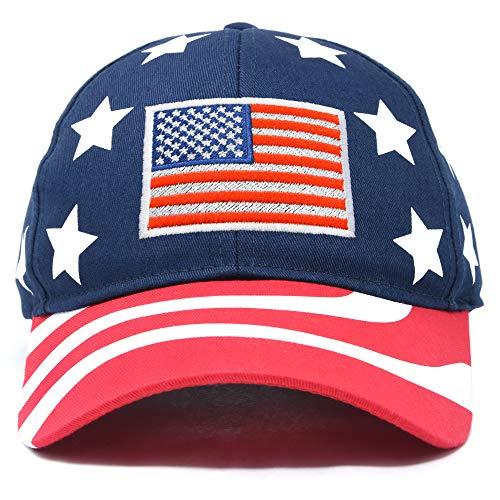 DALIX American Flag Hat Premium USA Baseball Cap in Stars and Stripes (Telefon-chat Usa)