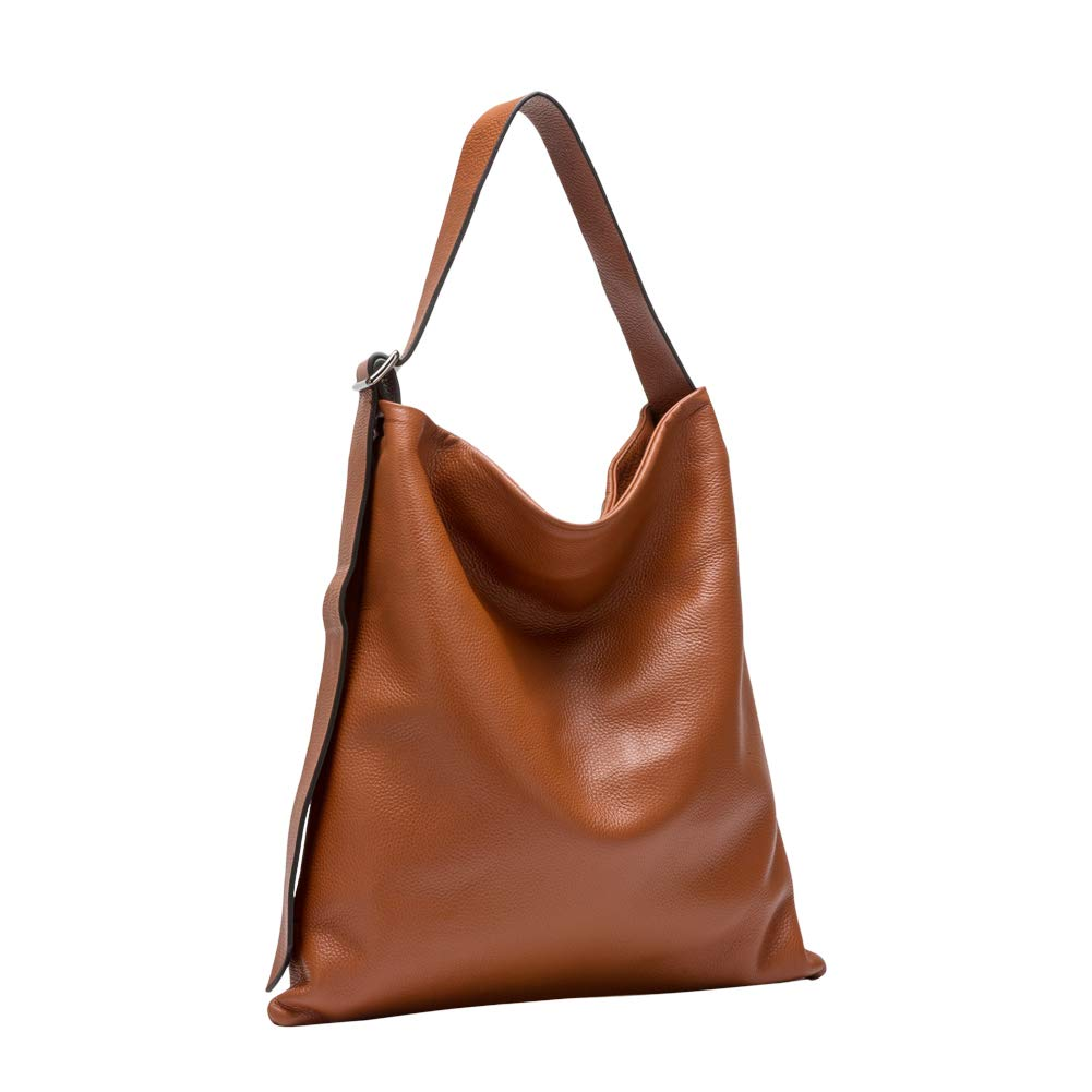 Amazon.com  LANGYUE Large Capacity Genuine Leather Handbags for Women Hobo  Handbags (Brown)  Shoes 8ff34d930b27b