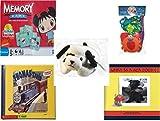 Childrens Gift Bundle - Ages 3-5 [5 Piece] - Ni Hao Kai-Lan Edition Memory Game - Shape Sorter Fishing Fun Bath Toy - Ty Beanie Babies - Dotty the Dalmatian Dog - Thomas & Friends: Thomas and Gord