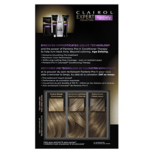Clairol Age Defy Expert Collection 8a Medium Ash Blonde, 2 Kit Bundle!