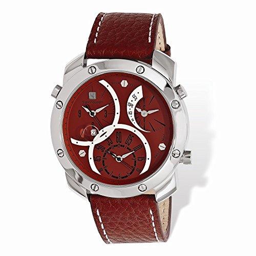 - Steinhausen Triple Crown Swiss Movement Red Dial Watch