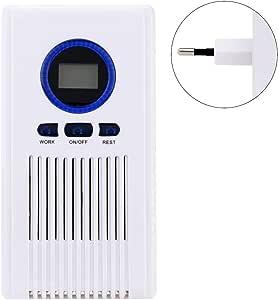 Purificador de aire generador de ozono, 100 mg/h multiusos, esterilizador de aire y ambientador O3 Ozone máquina con función de temporizador LED para el hogar, hotel, oficina, hospital eu plug blanco: Amazon.es: