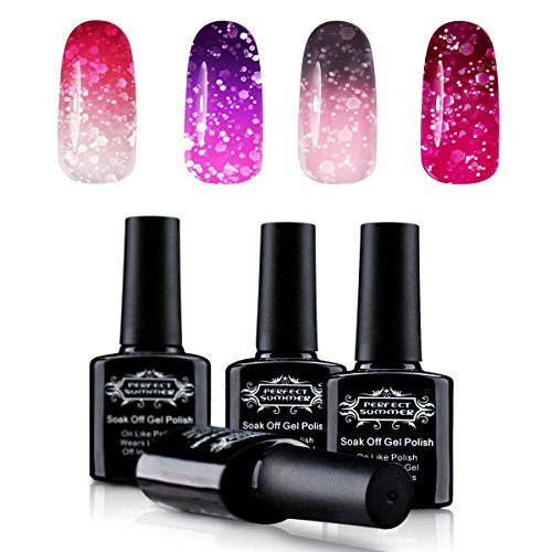 Temperature Color Changing Gel Nail Polish Set - Chameleon G
