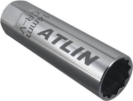 Amazon Com Atlin Thin Wall Spark Plug Socket 12 Point 14 Millimeters Compatible With Bmw Nissan Mini Automotive