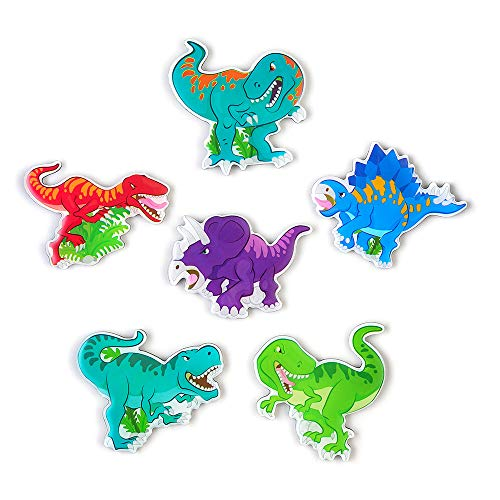 Morcart Refrigerator Magnets Cute Dinosaur Magnets(6pcs)3D Pattern for Kitchen Kids Toys Students Lockers Office Menu Message Boards