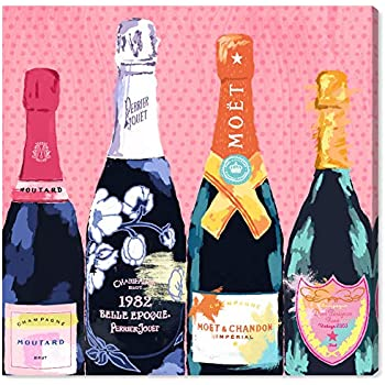 The Oliver Gal Artist Co. Drinks and Spirits Wall Art Canvas Prints 'Pass The Bottle!' Home Décor, 20