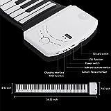S88 Portable 88 Keys Roll Up Soft Flexible Electronic Music Keyboard Piano Built-in Loud Speaker Recharge Battery for Children Beginner