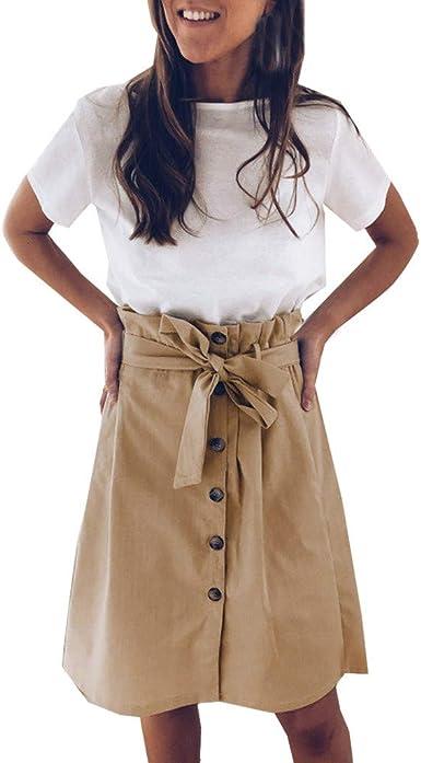 Poachers Falda Pantalon Mujer Elegante Vestidos Verano Mujer ...