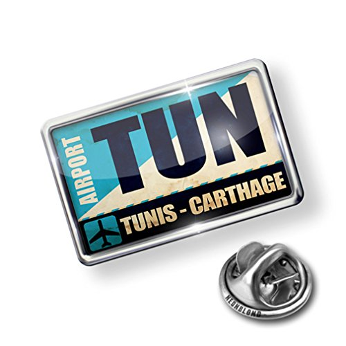 new Pin Airportcode TUN Tunis - Carthage - Lapel Badge - NEONBLOND for sale