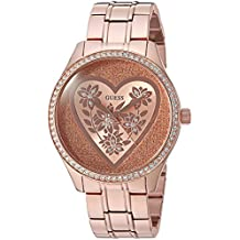 GUESS Women's U0910L3 Trendy Rose Gold-Tone Watch with  Rose Gold Dial  and Stainless Steel Band