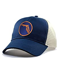 Men's Florida Home State Trucker Hat With Orange/Blue Patch