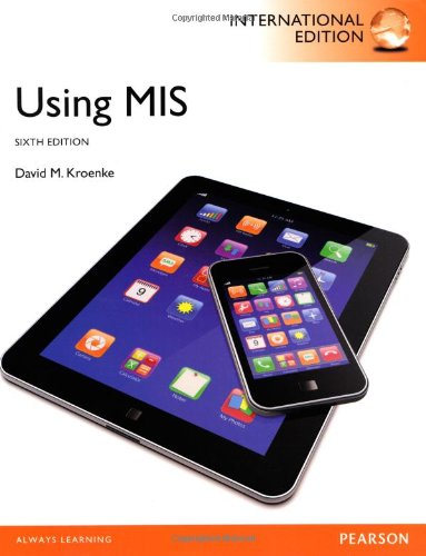 Read Online Using MIS, International Edition pdf