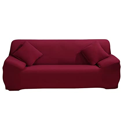 Stretch Sofa Cover - Sofa Covers Slipcover Sofa - 1-Piece 1 2 3 4 Seater  Furniture Protector Polyester Spandex Fabric Slipcover with a Pillow Cover  ...