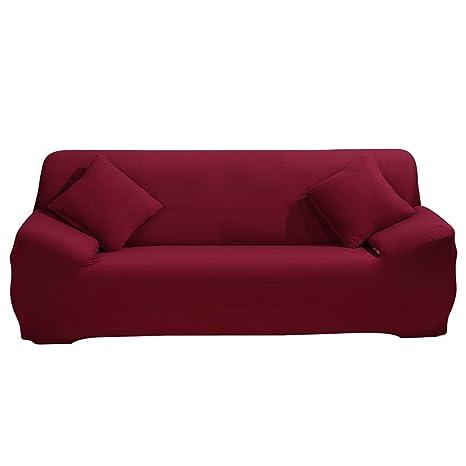 Funda protectora y elástica para sillón o para sofá de hasta 4 plazas, fabricada de tela de poliéster y licra, para proteger los muebles de niños y de ...