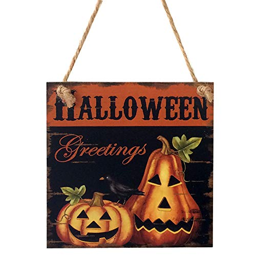 Boutique Sale,KIKOY Happy Halloween Wooden Pendant Door Decorations Hanging Party Decoration for $<!--$2.39-->