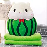 Plush Fruit Hamster , Lotus.flower Furry Stuffed Animal Toys Cuddly Plush Guinea-pig Lovely Collectible Dolls Kids Adults Snuggle Pal Ideal Gift Home Decor (Watermelon)