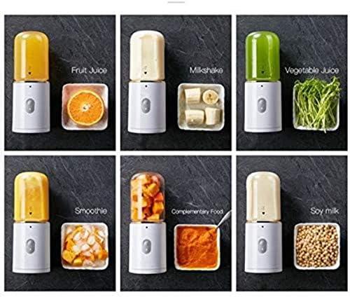 MISLD Juicer De L'usb Portable Rechargeable Fruit Juicer 5v pour Voyage Mini Machine Culinaire, Blanc, américain 220 v,Bleu,états-Unis 220 v