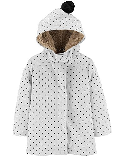 Girls Sherpa Lined Jacket (Carter's Little Girls' Sherpa Lined Jacket, Dot Print,)