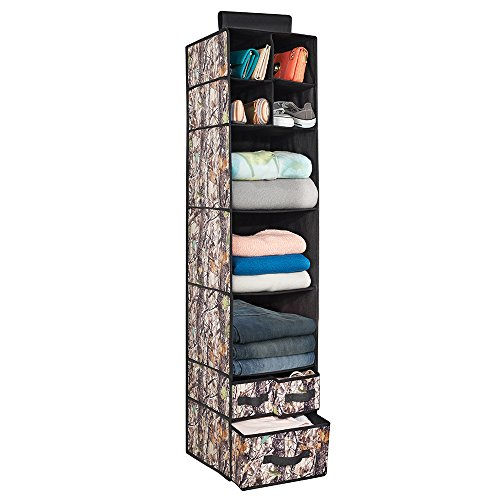 mDesign Fabric Hanging Storage Organizer