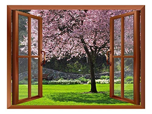 Cherry Blossom in Spring Removable Wall Sticker Wall Mural