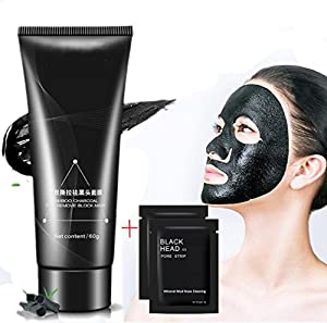 Black Mask Blackhead Remover, Facial Masks Peel Off, Suction Cleaner Black Mask Tearing Resist Oily Skin Strawberry Nose Purifying Deep Cleansing