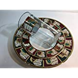 Yuletide Greetings by Pier 1 Imports Collage Of Christmas Around Rim 3 Pieces Place Setting for 10