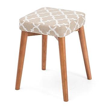 Chaise européenne Tabouret de table à manger en bois massif, maison ...