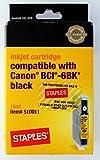 Staples Black Inkjet Cartridge for Canon BCI - 6BK