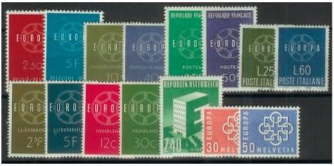 Goldhahn Europa CEPT 1959 postfrischkomplett mit 15 Marken Briefmarken f/ür Sammler