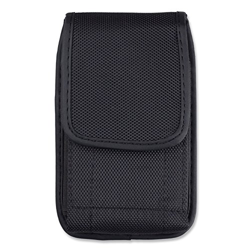 Black Yinuo Nylon Vertical Executive Holster Holster Belt Clip Pouch Case for iPhone 6S Plus / LG G5 / G4 / Motorola DROID Turbo 2 / Moto G 3G / Sony Xperia X