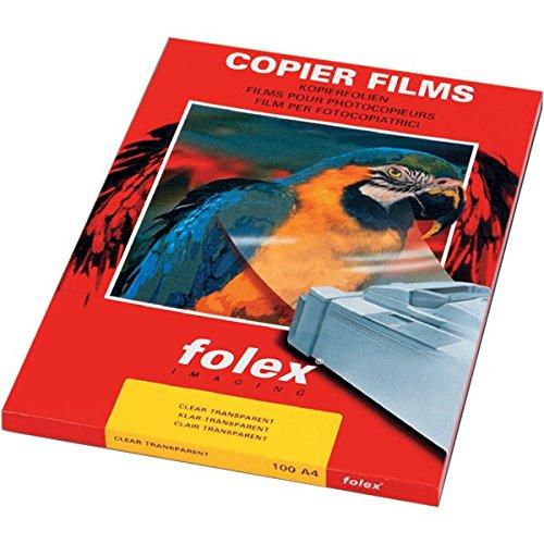 Folex 26230.050.44000 Film Adesivo, Trasparente, A4, Confezione da 100