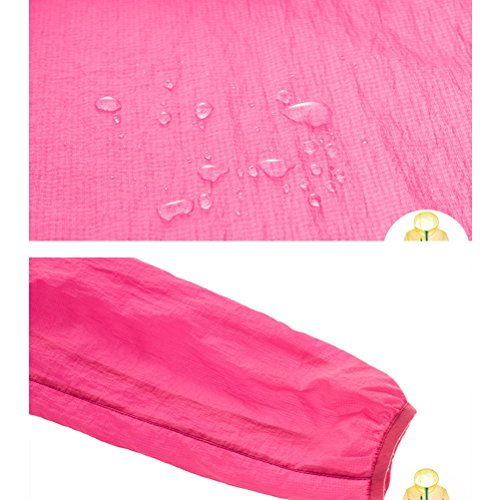 Zhhlinyuan Moda Windbreaker Genuine Skin Clothing Waterproof Coat for Outdoor Yellow
