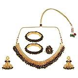 Efulgenz Indian Bollywood 14 K Gold Plated Faux Pe