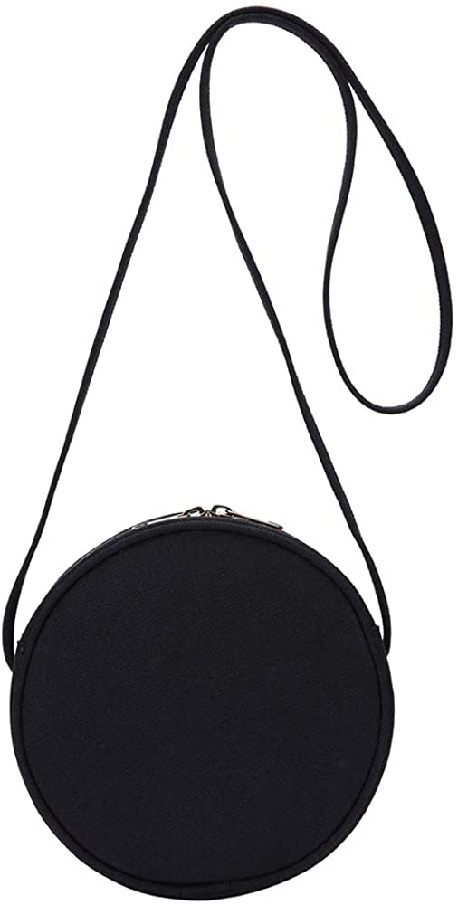 Round Crossbody Wallet, Fashion Circle Crossbody Purse Clutch Handbag-YONBEN