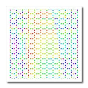 ht_164192_2 Cassie Peters Abstract - Colorful Abstract Star Pattern - Iron on Heat Transfers - 6x6 Iron on Heat Transfer for White Material