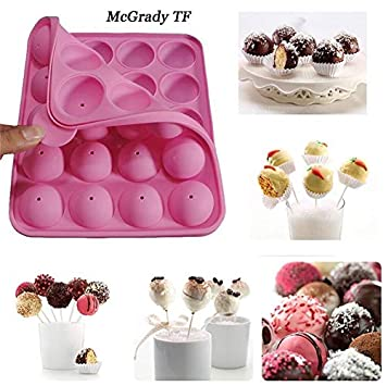 Laliva Mac - Molde de silicona con 20 agujeros para hacer palillos de pasteles, paletas, cupcakes, helados, helados, espuma, chocolate, molde de silicona: ...