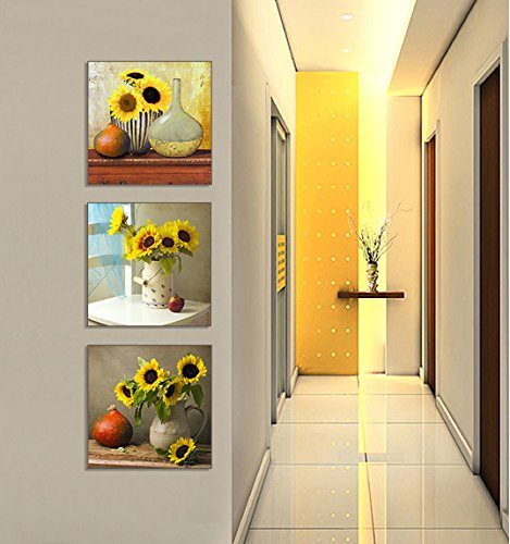 Sunflower  Yellow canvas Wall Art, Beautiful Floral Still Life