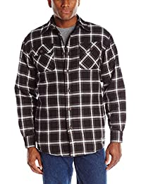 Authentics Men's Long Sleeve Quilted Flannel Lined Shirt
