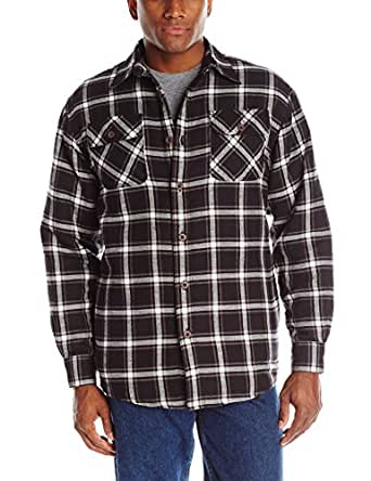 Wrangler Men S Authentics Long Sleeve Quilted Flannel