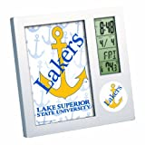 NCAA Lake Superior State Lakers Digital Desk Clock