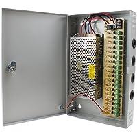 AGPtek 18 Channel CCTV Security Camera Power Supply Box 12V 10A DC