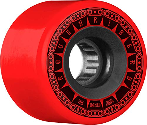 Bones Rough Riders Tank 56mm 80A - Red (Best Skateboard Wheels For Rough Roads)